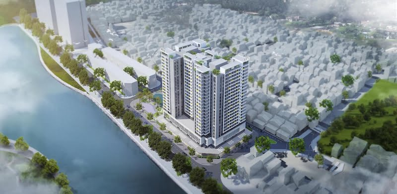 Nhà ở xã hội Rice City Thượng Thanh thuộc địa phận của phường Thượng Thanh